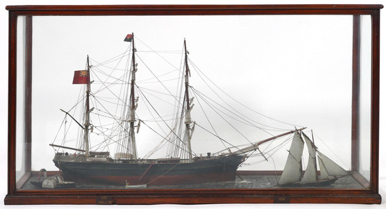 "ANTIQUE Ship Model Whaling Bark ""Swallow"""
