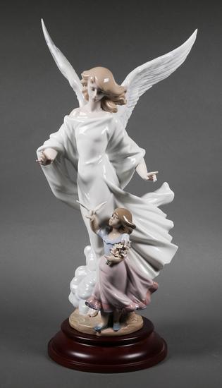 Lladro Porcelain Figurine Guardian Angel #6352