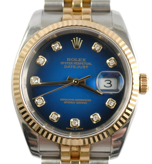 Mens ROLEX Oyster Perpetual Datejust Diamond Watch