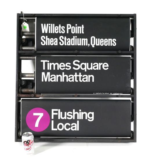 NYC Subway SHEA STADIUM Rotating Sign