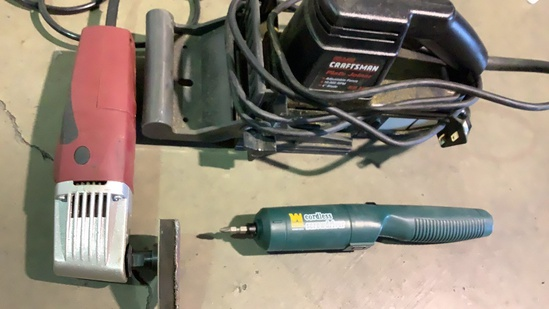 BISCUIT JOINTER, PLATE JOINTER AND SCREWDRIVER