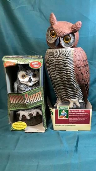 FAUX OWL SCARECROWS