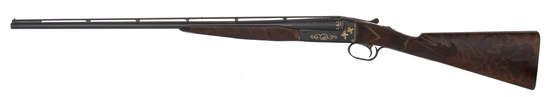 The Finest Most Elaborate Factory Gold Inlaid Engraved Winchester Model 21 Extant