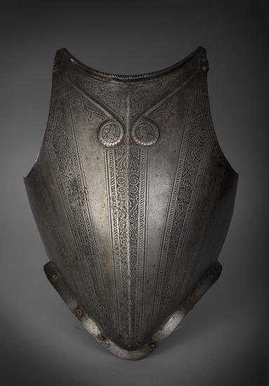 Etched Italian Pisan Peascod Breastplate Circa 1580