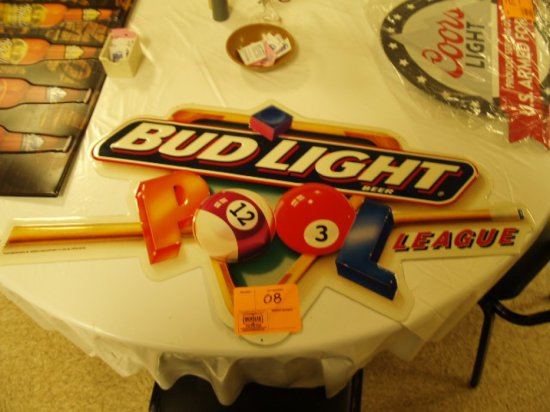BUD LIGHT POOL LEAGUES METAL SIGN | Industrial Machinery