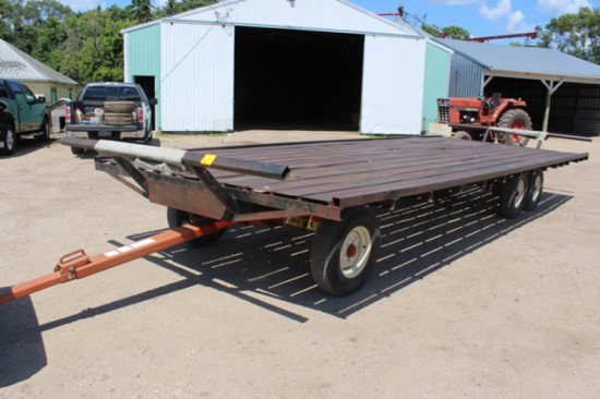 10'X26' STEEL FLATBED TRAILER, MEYER 12 TON TANDEM