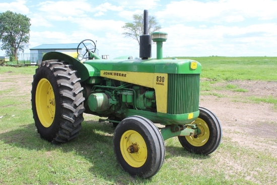 JOHN DEERE 830 DIESEL ELECTRIC START,