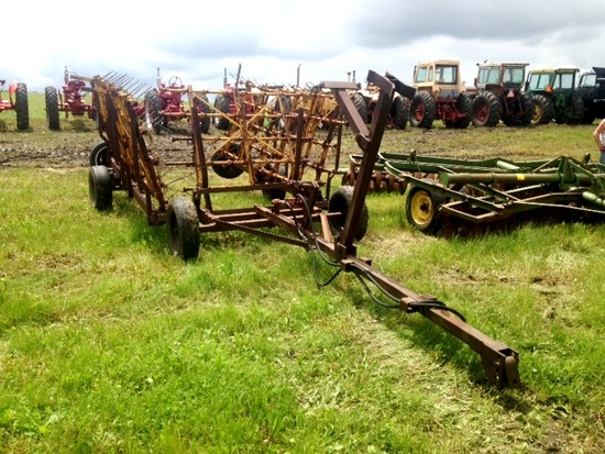 5 SECTION SPRING TOOTH DRAG ON HYD CART
