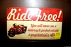 Ride Free sign