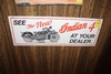 See The New Indian 4 tin sign