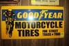 Good Year Motorcycle Tires, metal