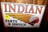 Indian Parts & Service tin sign