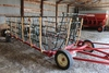 PEPIN 40' 7 SECTION SPRING TOOTH DRAG ON CART,
