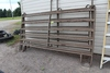 (4) CORRAL PANELS, (1) PANEL WITH A SWING GATE,