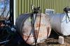 1000 GAL GASOLINE BARREL, GASBOY 110V PUMP
