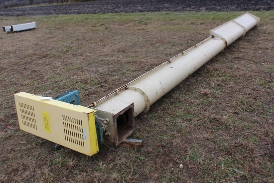"10"" X 23 U TROUGH AUGER, ELECTRIC MOTOR,"