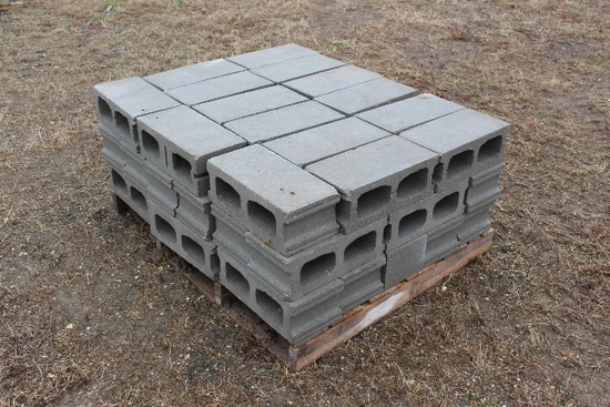 (2) PALLETS OF CEMENT BLOCKS,