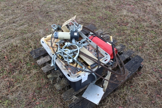 FIRE EXTINGUSHERS, AUGER CLAMPS, POLY BOX,