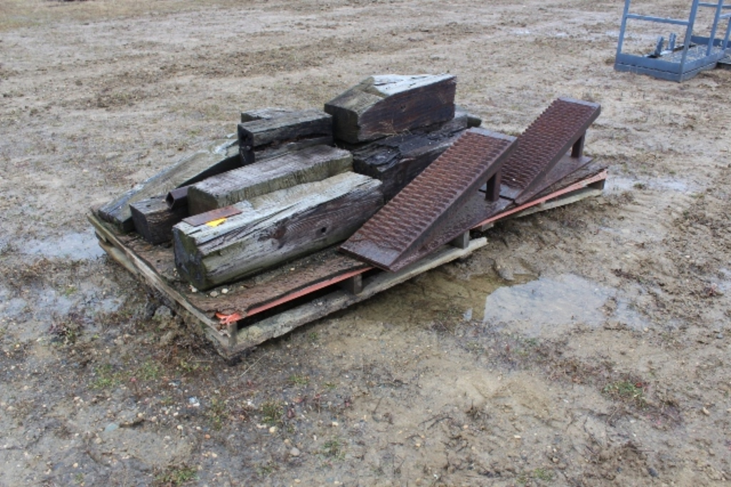 STEEL RAMPS AND WOOD BLOCKING,