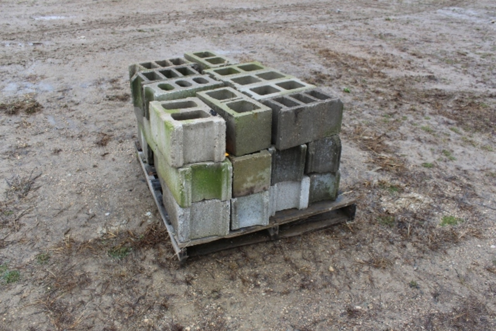 (3) PALLETS OF CEMENT BLOCKS,
