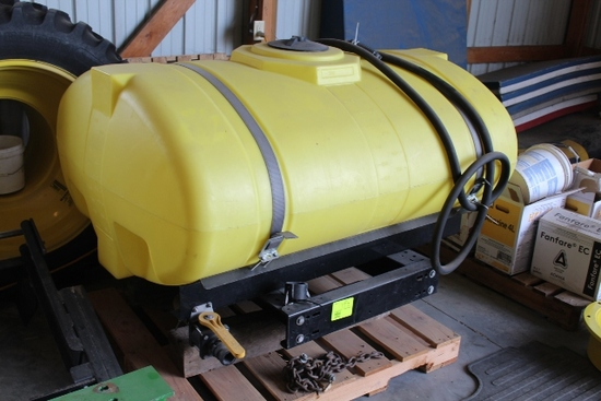 300 GALLON POLY TANK, WITH MOUNTS FOR FRONT