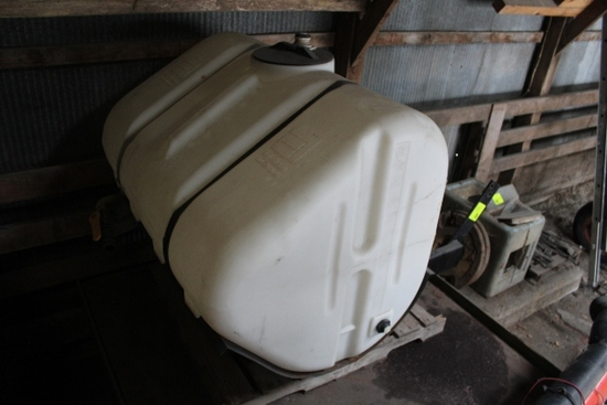 250 GALLON POLY TANK, WITH MOUNTS FOR FRONT