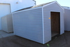 NEW 10' X 12' STORAGE SHED, 5' ROLL UP DOOR, GREY IN COLOR