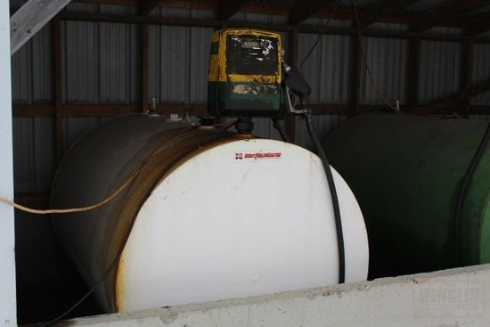 500 GALLON DIESEL BARREL, 110 VOLT