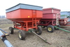 BRADFORD GRAVITY BOX, APPROX 250 BU ON JD GEAR