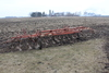 IH 45 VIBRASHANK 18' FIELD CULT, 2 BAR HARROW,