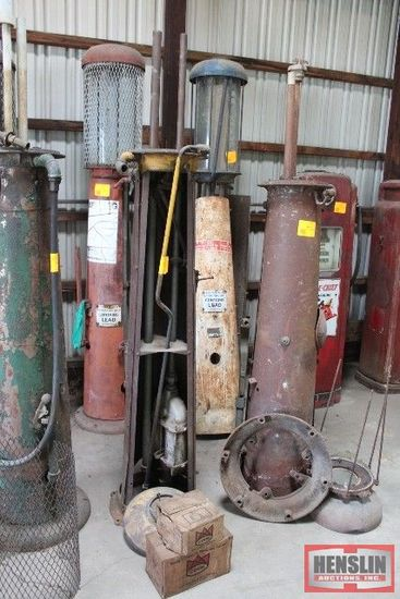 BULTER HAND VISABLE GAS PUMP FOR PARTS OR REPAIR,