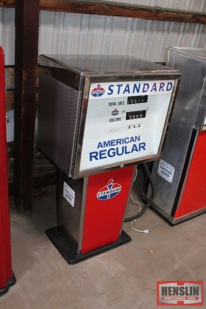 WAYNE MODEL 734 GAS PUMP, STANDARD OIL ORIGINAL,
