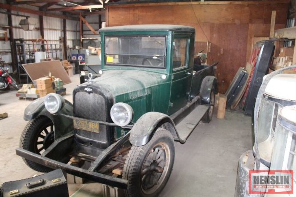 ***1928 CHEVROLET 1 TON TRUCK W/WOODEN BOX, APPROX