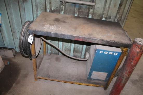 "20"" X 40"" STEEL WELDING TABLE"