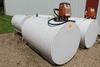 500 GALLON GAS BARREL WITH 110 VOLT PUMP,