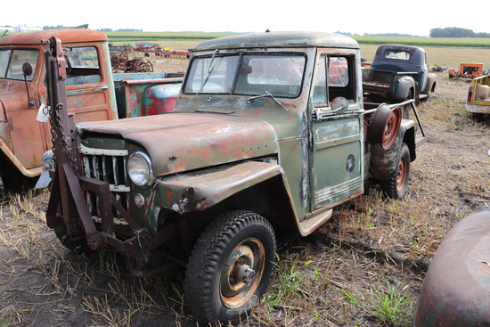 *** 1954 JEEP PICKUP, 4X4, 6 CYLINDER, 16,355 MILES SHOWING