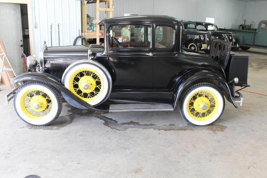 1931 FORD MODEL A, ORIGINAL INT, SPOKE WHEELS,
