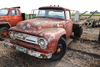 FORD F-600 TRUCK, SINGLE AXLE FLATBED,