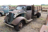 1936 FORD SINGLE AXLE TRUCK, 10' STEEL DUMP BOX,
