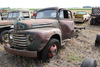 FORD F6 TRUCK, NO REAR AXLE, 13,724 MILES SHOWING,