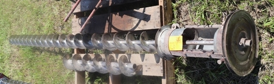 """HUTCHINSON 6"""" BIN UNLOAD AUGER WITH ELECTRIC MOTOR"""