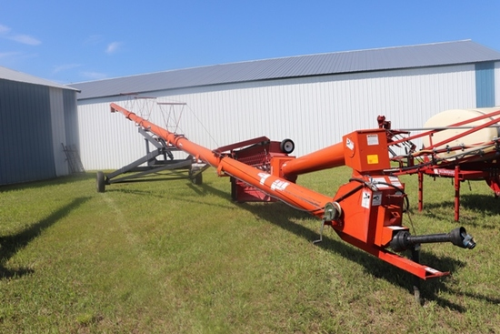 "WHEATHEART SA71-10, 10"" X 71'  SWING HOPPER AUGER, LOW PROFILE HOPPER, HYD LIFT, BOUGHT NEW"