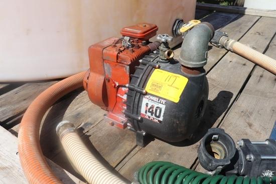 HOMELITE TRANSFER PUMP, B&S ENGINE, HOSE