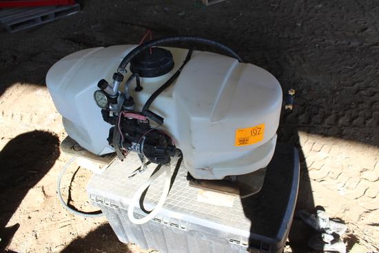 25 GALLON ATV FIMCO POLY SPRAY TANK,