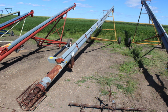 """HUTCHINSON 8"""" X APPROX 55' AUGER, PTO,"""