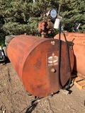 500 GAL BARREL, USED FOR DIESEL, PUMP, METER, 110V, MAY HAVE SMALL LEAK