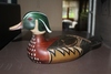 """WOOD DUCK DECOY MADE BY TOM TAMBER-14""""L"""