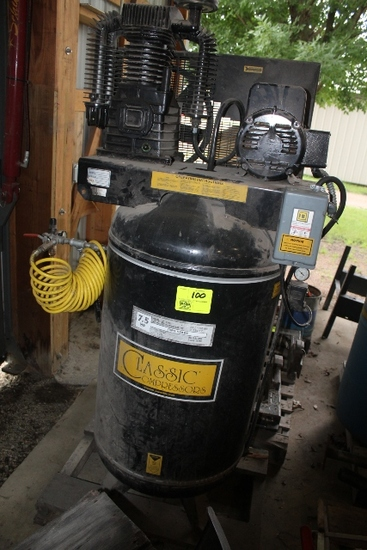 CLASSIC COMPRESSORS 7.5 HP, 32.6 CFM, 2 STAGE,