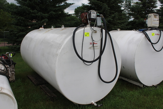 2000 GAL DSL BARREL WITH PUMP AND METER