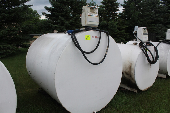 1000 GAL DSL BARREL WITH PUMP AND METER